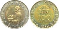 100 Escudos 1989 Portugal Pedro Nunes prägefrisch  7,95 EUR  +  3,95 EUR shipping