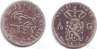1/10 Gulden 1856 Niederländisch Indien Wilhelm III. (1849 - 1890) f.ss  9,00 EUR  +  3,95 EUR shipping
