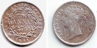 2 Annas 1841 Ostindien Company Victoria (1837 - 1901) ss  19,95 EUR  +  6,95 EUR shipping