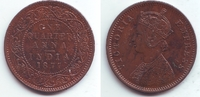 1/4 Anna 1877 Indien Victoria (1837 - 1901) vz-st  19,95 EUR  +  6,95 EUR shipping
