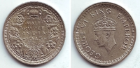 1/2 Rupie 1943 Indien George VI. (1936 - 1952) vz-st  39,95 EUR  +  6,95 EUR shipping