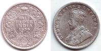 1/2 Rupie 1936 Indien George V. (1910 - 1936) vz  29,95 EUR  +  6,95 EUR shipping