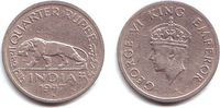 1/4 Rupie 1947 Indien George VI. (1936 - 1952) ss-vz  9,95 EUR  +  3,95 EUR shipping