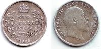 2 Annas 1903 Indien Edward VII. (1901 - 1910) ss-vz  19,95 EUR  +  6,95 EUR shipping