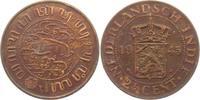 2 1/2 Cents 1945 Niederländisch Indien  vz  8,95 EUR  +  3,95 EUR shipping