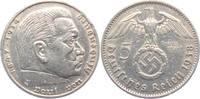 5 Reichsmark 1938 A Drittes Reich Paul von Hindenburg - mit Hakenkreuz ss  12,00 EUR  zzgl. 4,95 EUR Versand