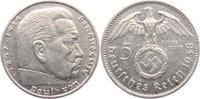 5 Reichsmark 1938 A Drittes Reich Paul von Hindenburg - mit Hakenkreuz vz  15,00 EUR  zzgl. 4,95 EUR Versand