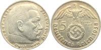 5 Reichsmark 1938 D Drittes Reich Paul von Hindenburg - mit Hakenkreuz ss  9,95 EUR  zzgl. 2,95 EUR Versand