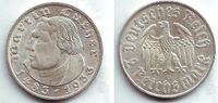 2 Reichsmark 1933 D Drittes Reich Martin Luther f.st  34,95 EUR  +  6,95 EUR shipping