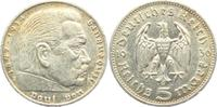5 Reichsmark 1936 E Drittes Reich Paul von Hindenburg - ohne Hakenkreuz... 8,00 EUR  zzgl. 2,95 EUR Versand