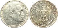 5 Reichsmark 1935 J Drittes Reich Paul von Hindenburg - ohne Hakenkreuz... 13,00 EUR  zzgl. 4,95 EUR Versand