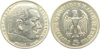 5 Reichsmark 1935 A Drittes Reich Paul von Hindenburg - ohne Hakenkreuz... 9,95 EUR  zzgl. 2,95 EUR Versand