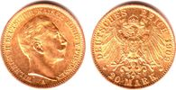 20 Mark 1909 A Preussen Kaiser Wilhelm II. vz+  339,00 EUR  zzgl. 6,95 EUR Versand