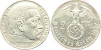 2 Reichsmark 1937 A Drittes Reich Paul von Hindenburg - mit Hakenkreuz ss  3,95 EUR  zzgl. 2,95 EUR Versand