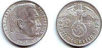 2 Reichsmark 1937 A Drittes Reich Paul von Hindenburg - mit Hakenkreuz ... 9,95 EUR  zzgl. 2,95 EUR Versand