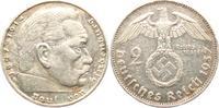 2 Reichsmark 1937 G Drittes Reich Paul von Hindenburg - mit Hakenkreuz ss  7,00 EUR  zzgl. 2,95 EUR Versand