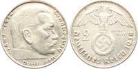 2 Reichsmark 1938 B Drittes Reich Paul von Hindenburg - mit Hakenkreuz ... 3,95 EUR  zzgl. 2,95 EUR Versand