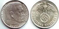 2 Reichsmark 1938 B Drittes Reich Paul von Hindenburg - mit Hakenkreuz vz  7,95 EUR  zzgl. 2,95 EUR Versand