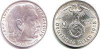 2 Reichsmark 1938 D Drittes Reich Paul von Hindenburg - mit Hakenkreuz ... 14,95 EUR  zzgl. 4,95 EUR Versand