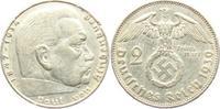 2 Reichsmark 1939 J Drittes Reich Paul von Hindenburg - mit Hakenkreuz ss  4,00 EUR  zzgl. 2,95 EUR Versand