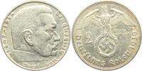 2 Reichsmark 1939 F Drittes Reich Paul von Hindenburg - mit Hakenkreuz ss  5,00 EUR  zzgl. 2,95 EUR Versand