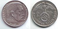 2 Reichsmark 1939 B Drittes Reich Paul von Hindenburg - mit Hakenkreuz vz  9,95 EUR  zzgl. 2,95 EUR Versand