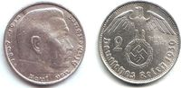 2 Reichsmark 1939 B Drittes Reich Paul von Hindenburg - mit Hakenkreuz ... 13,00 EUR  zzgl. 4,95 EUR Versand