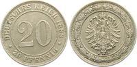 20 Pfennig 1888 A Kaiserreich 20 Pfennig - kleiner Adler ss-vz min. RF  19,00 EUR  zzgl. 4,95 EUR Versand