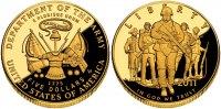 5 Dollar 2011 USA Goldmünze - U.S. Armee PP Original-Box + Zertifikat  498,00 EUR