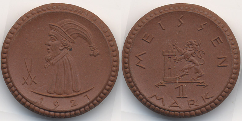 Meissen – Böttger Steinzeug (menzel 16521 14) Sachsen Meissen 1 Mark
