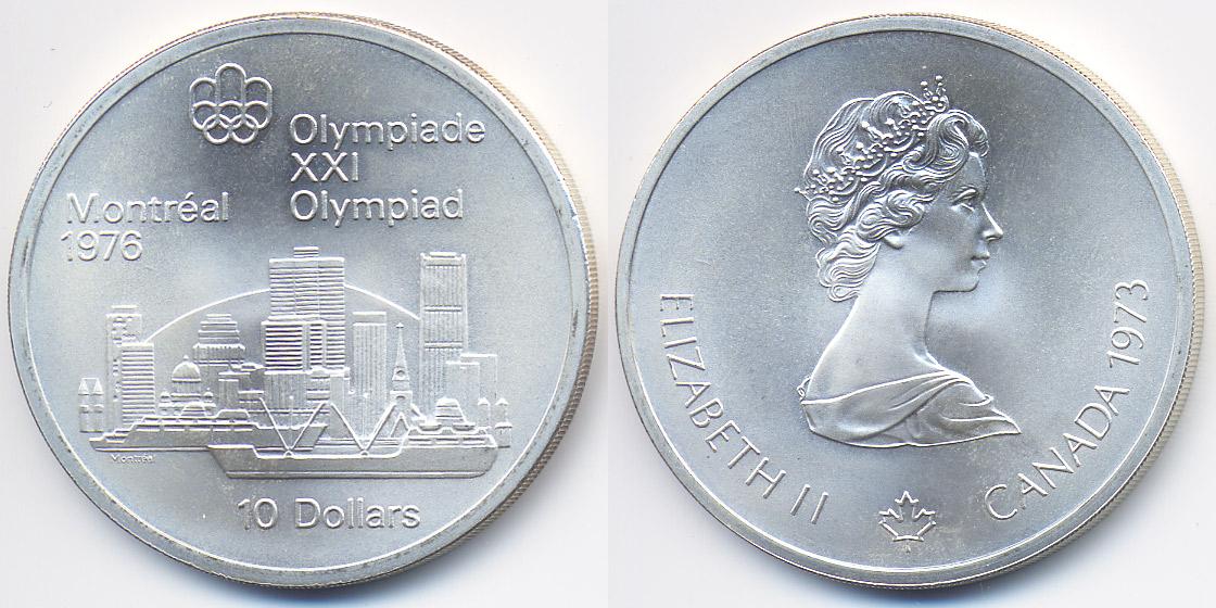Olympiade Montreal 1976 – quot;skylinequot; Kanada Canada 10 Dollars