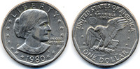 1 Dollar 1980 P USA - USA Susan B. Anthony vorzüglich+  2,80 EUR