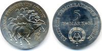 5 Mark 1984 DDR Adolf Freiherr von Lützow - Kupfer/Nickel prägefrisch  47,00 EUR