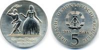 5 Mark 1985 DDR Caroline Neuber - Kupfer/Nickel prägefrisch/stempelglanz  52,00 EUR