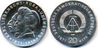 20 Mark 1971 DDR Liebknecht/Luxemburg - Silber prägefrisch - winzige Kr... 59,00 EUR