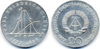 20 Mark 1977 DDR Carl Friedrich Gauss - Silber prägefrisch/stempelglanz  64,00 EUR