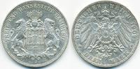 3 Mark 1909 J Hamburg Freie und Hansestadt vorzüglich  29,00 EUR