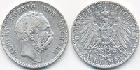 2 Mark 1901 E Sachsen Albert 1873-1902 sehr schön  60,00 EUR