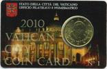 50 Cent 2010 Vatikan - Vatican 50 Cent Coincard 2010 prägefrisch  5,50 EUR