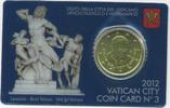 50 Cent 2012 Vatikan - Vatican 50 Cent Coincard 2012 prägefrisch  7,50 EUR