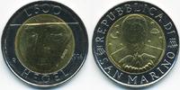 500 Lire 1996 San Marino - San Marino Republik – Hegel Bimetall prägefr... 4,50 EUR