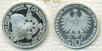 10 DM 1992 D BRD Pour le Merite Polierte Platte/Proof  9,00 EUR  zzgl. 1,20 EUR Versand