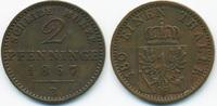 2 Pfennig 1867 B Brandenburg-Preussen Wilhelm I. 1861-1888 gutes sehr s... 6,00 EUR  +  2,00 EUR shipping