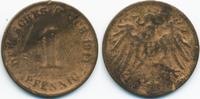 1 Pfennig 1911 Kaiserreich großer Adler – Kupfer – zu kleiner Schrötlin... 15,00 EUR  zzgl. 1,20 EUR Versand