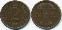 2 Rentenpfennig 1924 A Weimarer Republik Kupfer – Lichtenrader Prägung ... 12,00 EUR  +  2,00 EUR shipping