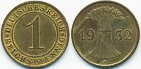 1 Reichspfennig 1932 A Weimarer Republik Kupfer - Messingfarben fast vo... 3,00 EUR  zzgl. 1,20 EUR Versand