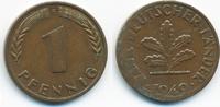 1 Pfennig 1949 F BRD Stahl/kupferplattiert - Verprägung fast vorzüglich  5,00 EUR  zzgl. 1,20 EUR Versand