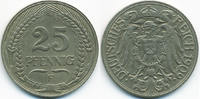 25 Pfennig 1909 F Kaiserreich Nickel – Lichtenrader Prägung sehr schön+... 20,00 EUR  zzgl. 3,80 EUR Versand