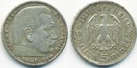 5 Reichsmark 1935 A Drittes Reich Hindenburg ohne Hk - Silber sehr schön  10,00 EUR  zzgl. 1,20 EUR Versand