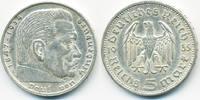 5 Reichsmark 1935 E Drittes Reich Hindenburg ohne Hk - Silber sehr schö... 12,00 EUR  zzgl. 1,20 EUR Versand